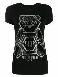 Philipp Plein embellished teddy bear T-shirt - Black