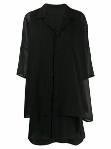 Y's oversize layered shirt - Black