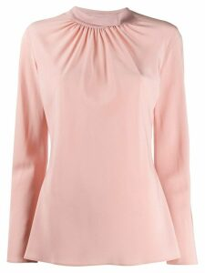 Agnona gathered neck blouse - PINK