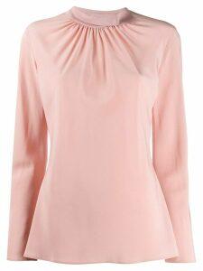 Agnona gathered neck blouse - PINK
