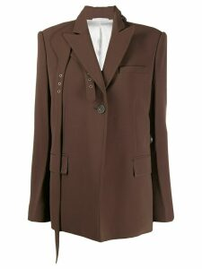 Peter Do belt-detail fitted jacket - Brown