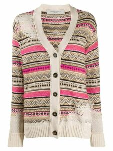 Golden Goose jacquard knit cardigan - NEUTRALS