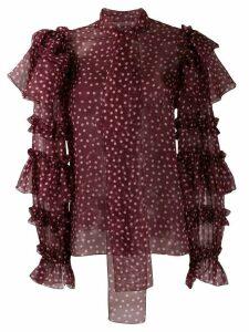 Dolce & Gabbana ruffle sleeve blouse - PINK