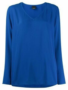 Pinko plain v-neck top - Blue
