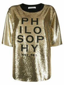 Philosophy Di Lorenzo Serafini sequinned T-shirt - GOLD