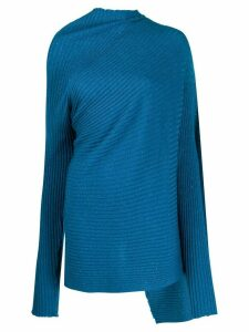 Marques'Almeida asymmetric draped jumper - Blue