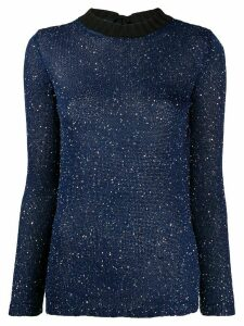 M Missoni fleck knitted top - Blue