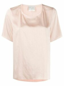 Forte Forte satin box-fit T-shirt - PINK