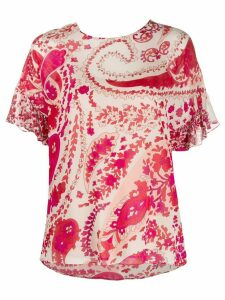 Twin-Set paisley print T-shirt - NEUTRALS