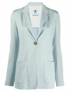 M Missoni fitted glitter effect blazer - Blue