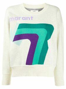 Isabel Marant Étoile intarsia-knit jumper - NEUTRALS