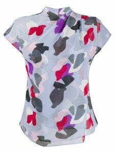 Emporio Armani layered floral print T-shirt - Blue