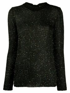 M Missoni knitted sequin embellished top - Black