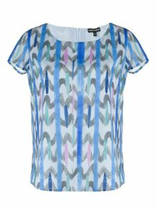 Emporio Armani abstract patterned T-shirt - Blue