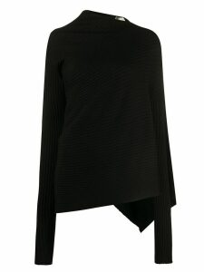 Marques'Almeida asymmetric ribbed knit jumper - Black