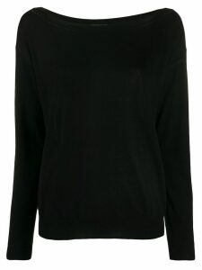 P.A.R.O.S.H. knitted boat-neck jumper - Black