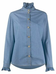 Philosophy Di Lorenzo Serafini ruffled blouse - Blue