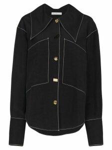 Rejina Pyo Cora contrast stitch shirt - Black