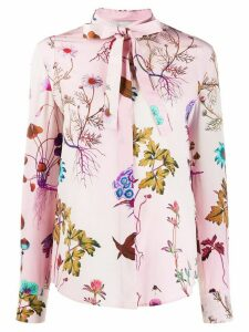 Stella McCartney floral print long-sleeved blouse - PINK
