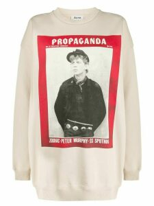 Acne Studios magazine-print sweatshirt - NEUTRALS