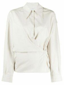Lemaire gathered shirt - NEUTRALS