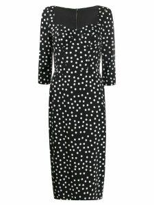Dolce & Gabbana corseted polka dot dress - Black