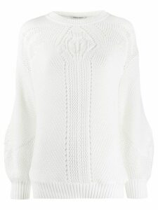 Alberta Ferretti open knit top - White