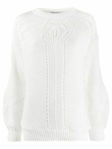 Alberta Ferretti open knit top - White