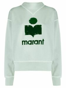 Isabel Marant Étoile logo printed sweatshirt - Blue