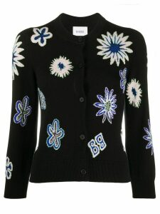 Barrie knitted floral cardigan - Black