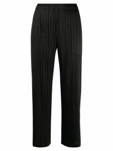 Pleats Please Issey Miyake pleated cropped trousers - Black