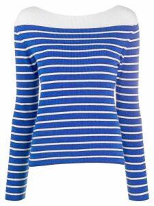 Barrie striped cashmere jumper - Blue