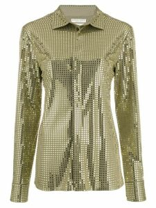 Bottega Veneta mirror embellished shirt - Green