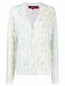 Sies Marjan colour-block animal print cardigan - White