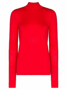 Les Rêveries turtleneck fine knit top - Red