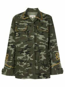 Nili Lotan camouflage print jacket - Green