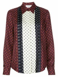 Gabriela Hearst polka-dot long sleeve blouse - PURPLE
