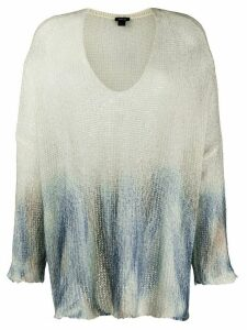 Avant Toi gradient effect jumper - NEUTRALS