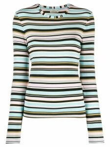 Stine Goya striped fine knit jumper - Blue