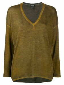 Avant Toi V-neck jumper - Brown