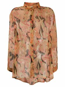 Mes Demoiselles Chicory sheer floral shirt - PINK