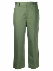 Marc Jacobs contrast piping cropped trousers - Green