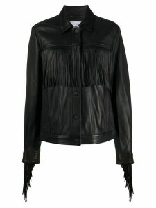 IRO Linear fringe-trimmed jacket - Black