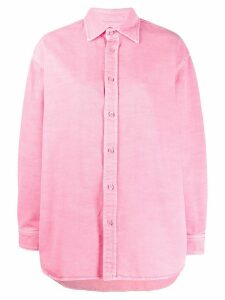 Balenciaga oversized long-sleeved buttoned shirt - PINK
