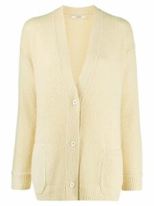 Odeeh v-neck button-up cardigan - Yellow