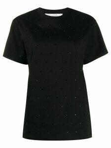Victoria Victoria Beckham Victoria rhinestone T-shirt - Black