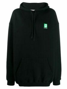 Balenciaga Green Logo hooded sweatshirt - Black