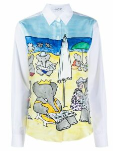 LANVIN popeline babar shirt - White