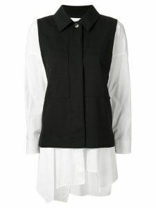 Enföld long sleeve contrast sleeve shirt - Black