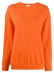 P.A.R.O.S.H. v-neck cashmere jumper - ORANGE